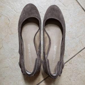 Franco Sarto Round Toe Low Wedge Shoe Sz 8